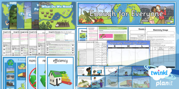 PlanIt - Geography Year 5 - Enough for Everyone Unit Pack - geography, settlement, power, resources, energy, electricity, food