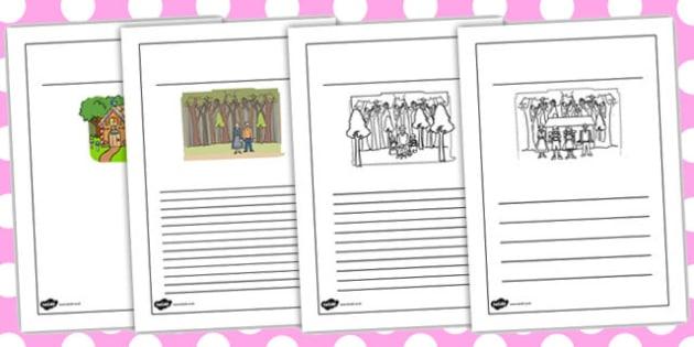 Hansel and Gretel Story Writing Frames - writing frames, story