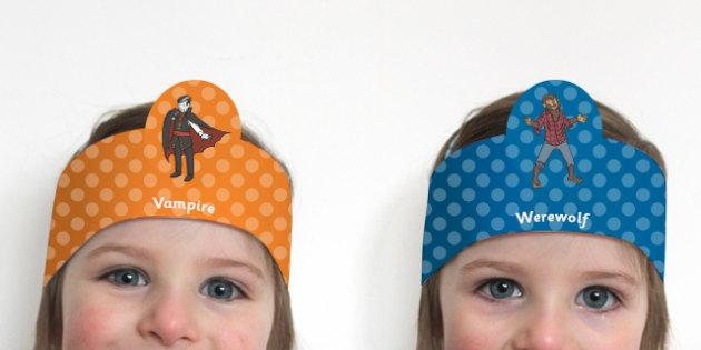Halloween Themed Role Play Headbands