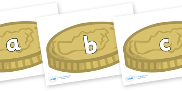 Phase 2 Phonemes on Coins - Phonemes, phoneme, Phase 2, Phase two, Foundation, Literacy, Letters and Sounds, DfES, display