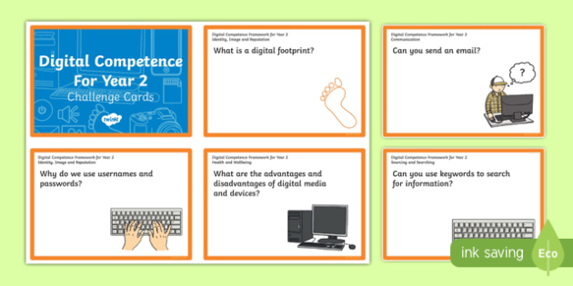 Digital Competence for Year 2 Challenge Cards-Welsh