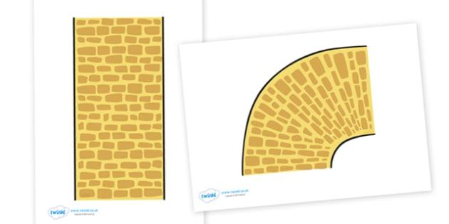 Display Yellow Brick Road - display, yellow brick, brick, road, brick road, sign, classroom, activity