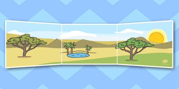 Africa Small World Background - Small World, Africa, Safari, backdrop, background, scenery, small world area, small world display, small world resources