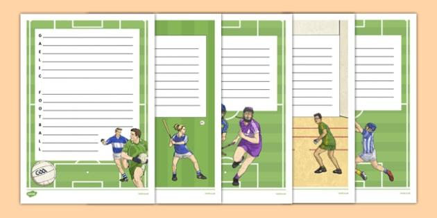 GAA Themed Acrostic Poetry - maps, ireland, worksheet, geography, sport, gaa, hurling, stadiums, label