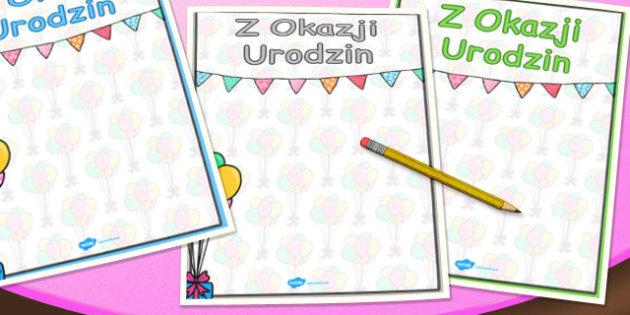 Urodzinowy plakat po polsku - szkola, edukacja, nauczanie , Polish
