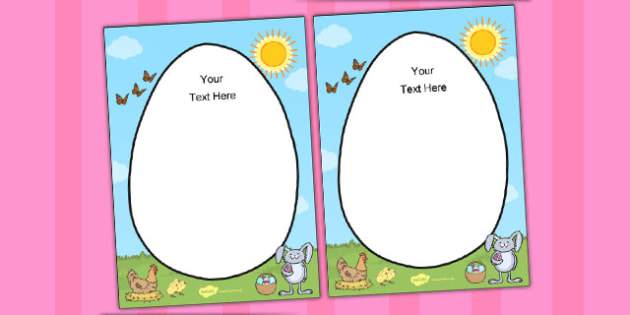 Easter Themed Editable Notes - easter, editable, notes, edit