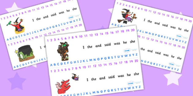 Combined Number and Alphabet Strips to Support Teaching on Room on the Broom - room on the broom, alphabet, number, alphabet strips, number strips, a-z, a-z strips, number line