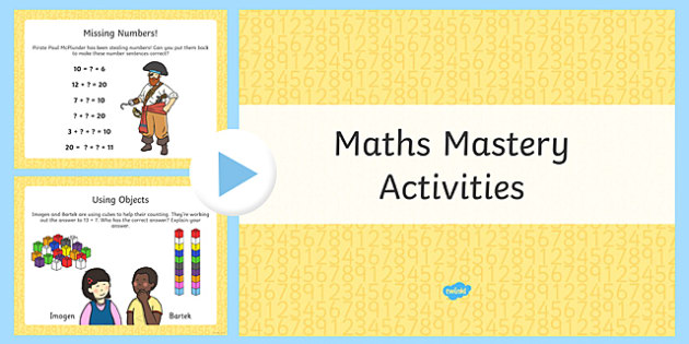 Year 1 Maths Mastery Number Bonds Activities PowerPoint
