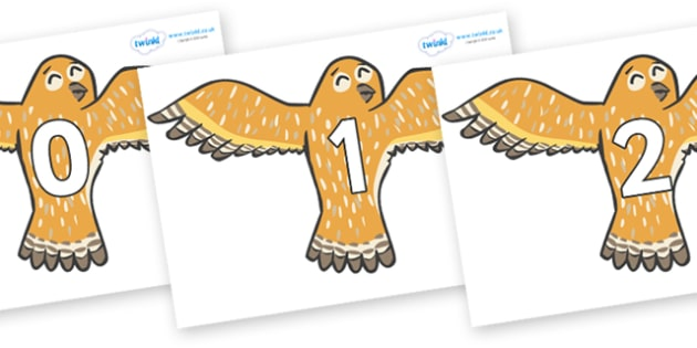 Numbers 0-50 on Owls - 0-50, foundation stage numeracy, Number recognition, Number flashcards, counting, number frieze, Display numbers, number posters
