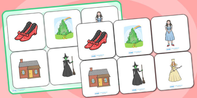 The Wizard of Oz Matching Cards and Board - the wizard of oz, the wizard of oz picture matching, the wizard of oz matching activity, storybook image games