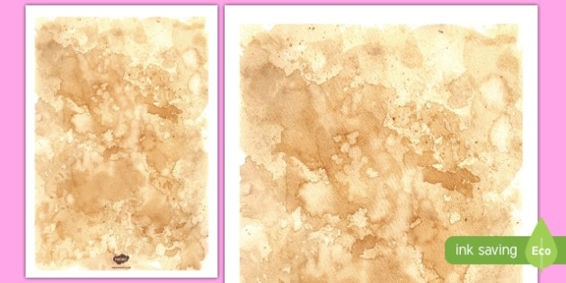 Tea Stained Paper Template
