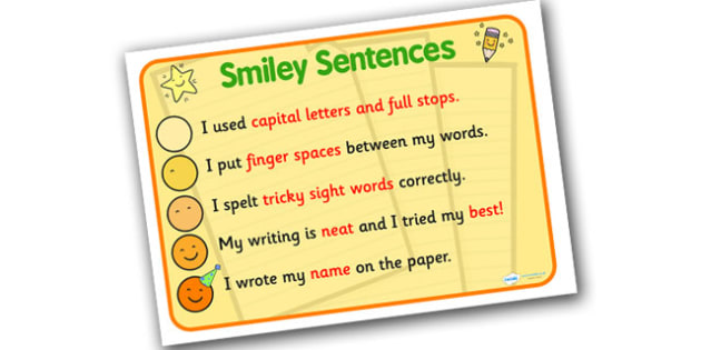 Great Sentences Display Poster - great sentences poster, smiley sentences poster, how to write great sentences, super sentences prompt poster, literacy