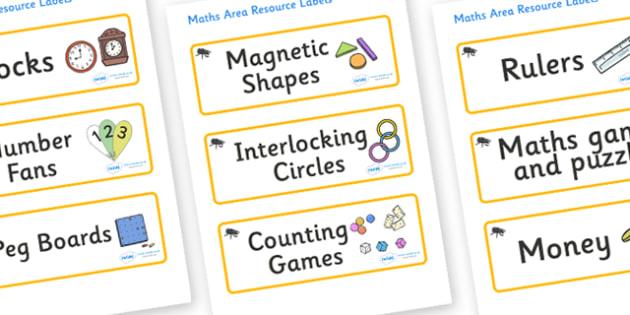 Beetle Themed Editable Maths Area Resource Labels - Themed maths resource labels, maths area resources, Label template, Resource Label, Name Labels, Editable Labels, Drawer Labels, KS1 Labels, Foundation Labels, Foundation Stage Labels, Teaching Labe