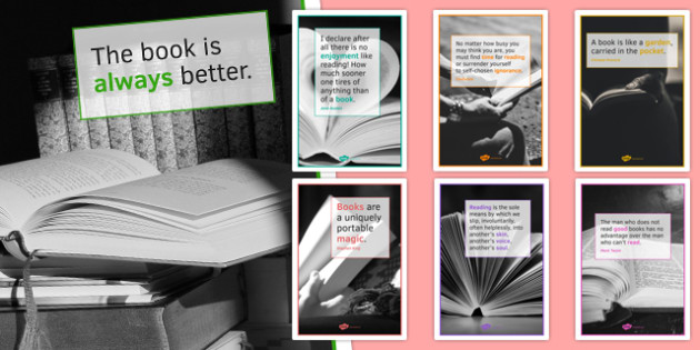 Reading Quote Posters for KS4 Portrait - reading quote, posters, display, display posters, ks4, portrait