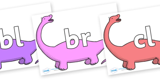 Initial Letter Blends on Apatosaurus to Support Teaching on Harry and the Bucketful of Dinosaurs - Initial Letters, initial letter, letter blend, letter blends, consonant, consonants, digraph, trigraph, literacy, alphabet, letters, foundation stage l