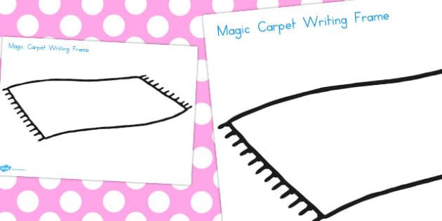Aladdin Magic Carpet Writing Frame - frames, write, literacy