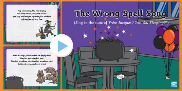 The Wrong Spell Song PowerPoint