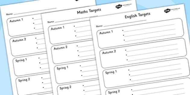 Half Termly Individual Maths and English Targets-Maths, English, Numeracy, Literacy, targets, half term targets, maths targets, english targets, my targets