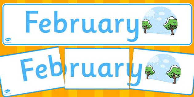 February Display Banner - february, display banner, display, banner, months, year
