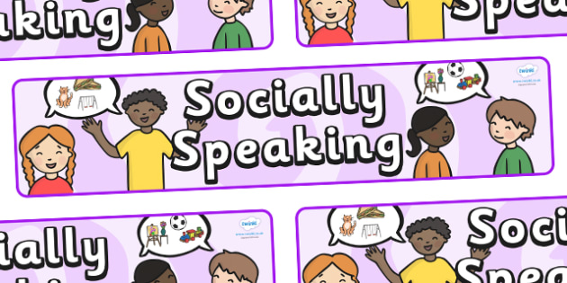 Socially Speaking Display Banner - socially speaking, social, speaking, display, banner, sign, poster