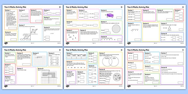 Year 6 Summer 1  Maths Activity Mats