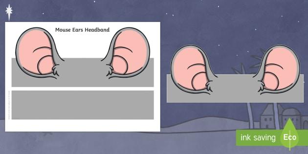 Mouse Ears Headband - mouse, role play, cutouts, ears, masks