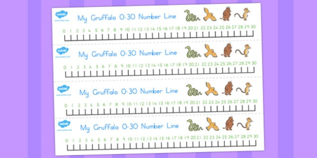 The Gruffalo Number Line 0-30 - australia, gruffalo, number line