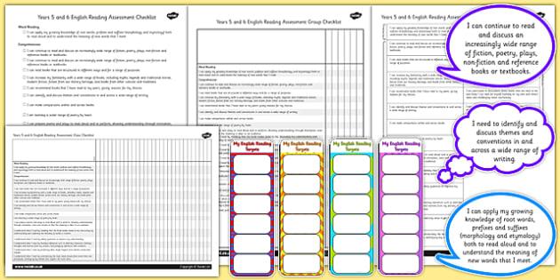 2014 Curriculum UKS2 Years 5 6 Reading Assessment Resource Pack
