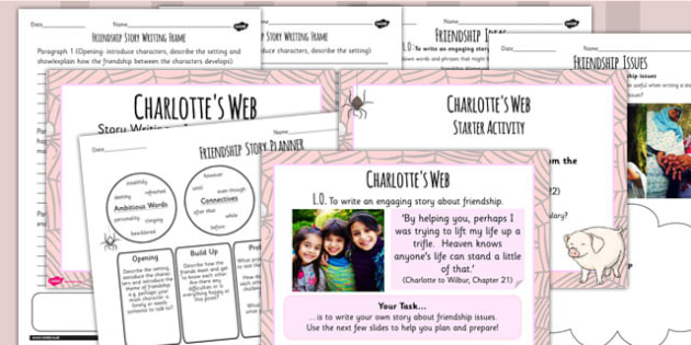 Charlottes Web Inspired Story Writing Lesson Teaching Pack