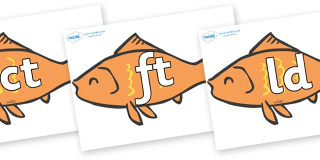 Final Letter Blends on Goldfish - Final Letters, final letter, letter blend, letter blends, consonant, consonants, digraph, trigraph, literacy, alphabet, letters, foundation stage literacy