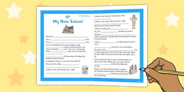 My New School Social Story Primary - new school, social, story
