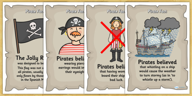 Pirate Fact Display Posters - pirate, display posters, posters