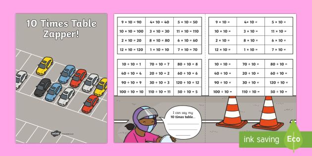 10 Times Table with Division Zapper