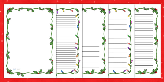 Christmas Themed Page Borders - christmas, page border, borders