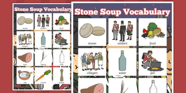 Stone Soup Vocabulary Poster - stone soup, vocabulary, poster
