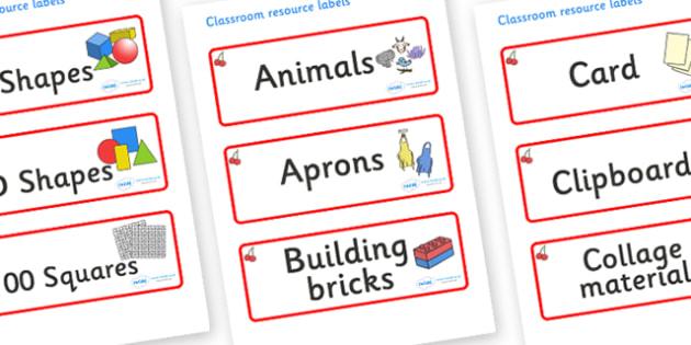 Cherry Themed Editable Classroom Resource Labels - Themed Label template, Resource Label, Name Labels, Editable Labels, Drawer Labels, KS1 Labels, Foundation Labels, Foundation Stage Labels, Teaching Labels, Resource Labels, Tray Labels, Printable la