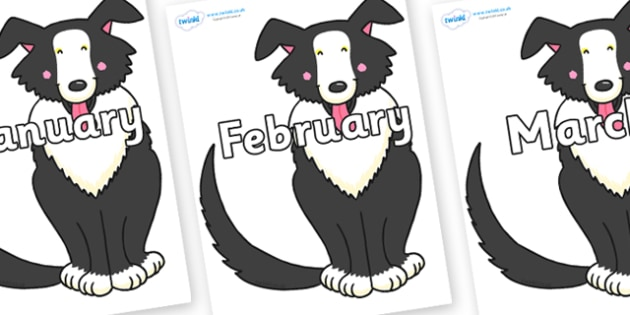 Months of the Year on Hullabaloo Sheepdog to Support Teaching on Farmyard Hullabaloo - Months of the Year, Months poster, Months display, display, poster, frieze, Months, month, January, February, March, April, May, June, July, August, September