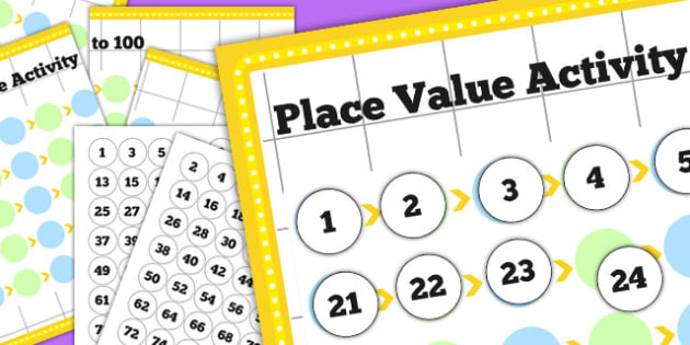 Place Value Activity to 100 - place value, values, numeracy, math