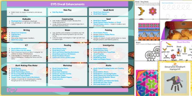 EYFS Diwali Enhancement Ideas and Resources Pack - eyfs, diwali, enhancement, ideas, pack