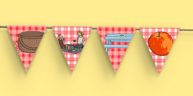 The Big Home Education Picnic Themed Bunting - the big home education picnic, event, home educators, bunting