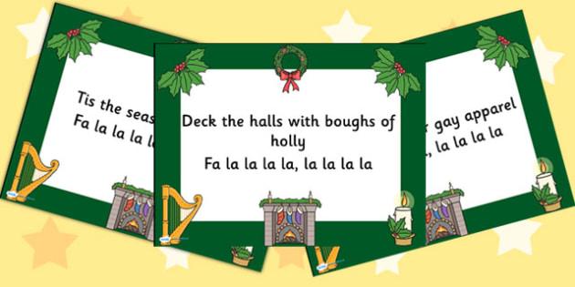 Christmas Carol Deck the Halls PowerPoint - christmas, powerpoint