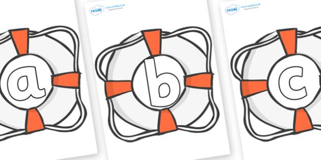 Phoneme Set on Lifebuoys - Phoneme set, phonemes, phoneme, Letters and Sounds, DfES, display, Phase 1, Phase 2, Phase 3, Phase 5, Foundation, Literacy
