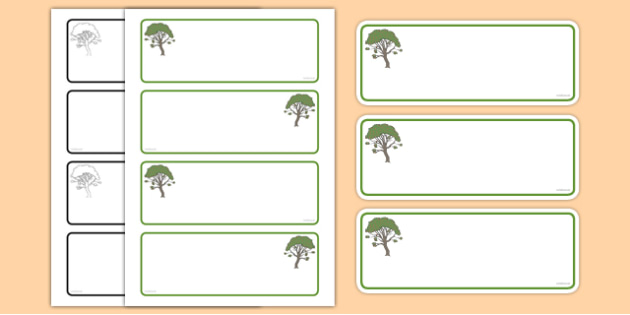 Rowan Tree Themed Editable Drawer-Peg-Name Labels (Colourful) - Themed Classroom Label Templates, Resource Labels, Name Labels, Editable Labels, Drawer Labels, Coat Peg Labels, Peg Label, KS1 Labels, Foundation Labels, Foundation Stage Labels, Teachi