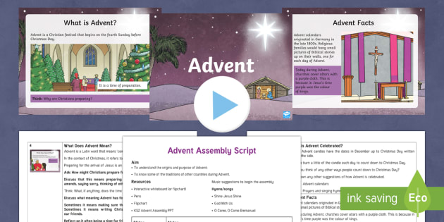 KS2 Advent Assembly Script and PowerPoint Assembly Pack - KS2 Advent, Advent assembly, KS2 assembly,