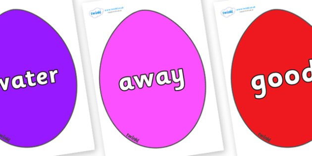 Next 200 Common Words on Easter Eggs (Coloured) - Next 200 Common Words on  - DfES Letters and Sounds, Letters and Sounds, Letters and sounds words, Common words, 200 common words
