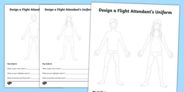 Design A Flight Attendant's Uniform - design, flight attendant