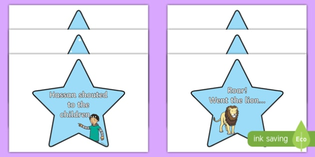 Sentence Openers on Stars - sentence openers, stars, display, signs, posters, writing