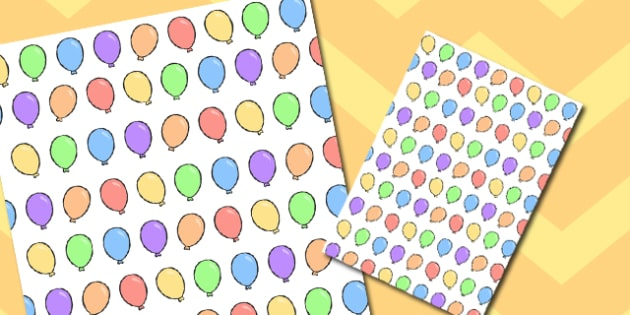Balloon Themed A4 Sheet - balloon, themed, a4, sheet, paper