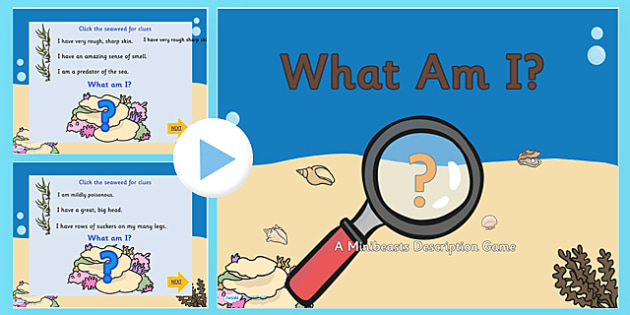 Under the Sea 'What am I?' Interactive PowerPoint Game - under the sea, under the sea game, under the sea what am I game, under the sea powerpoint game