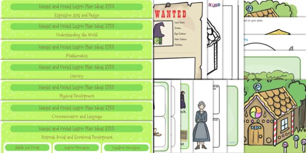 Hansel and Gretel EYFS Lesson and Enhancement Plan Ideas - lesson ideas, plans